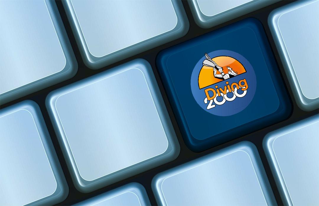 Tastatur med Diving 2000 logo