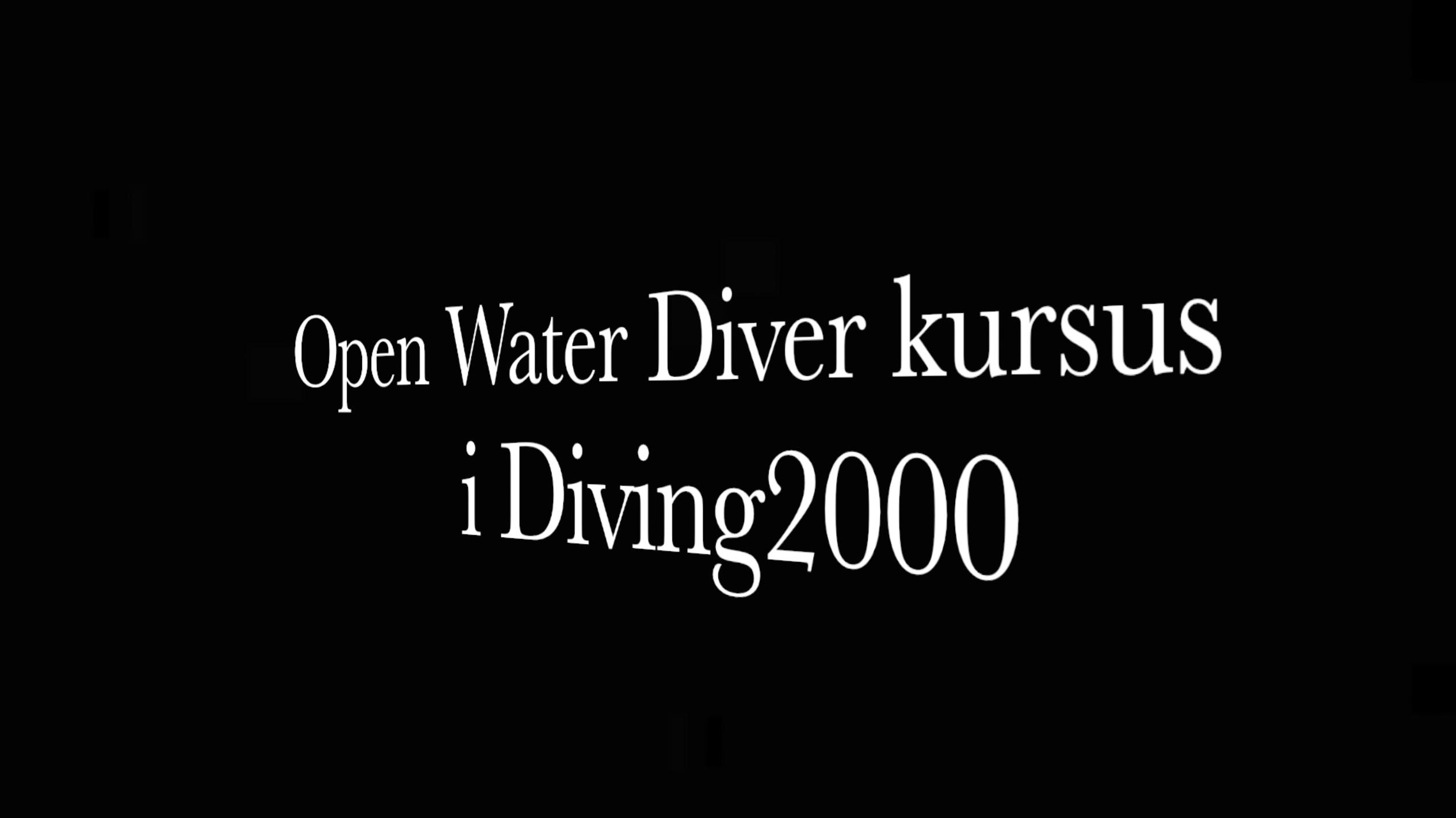 Webinar til PADI Open Water Diver dykkekursus