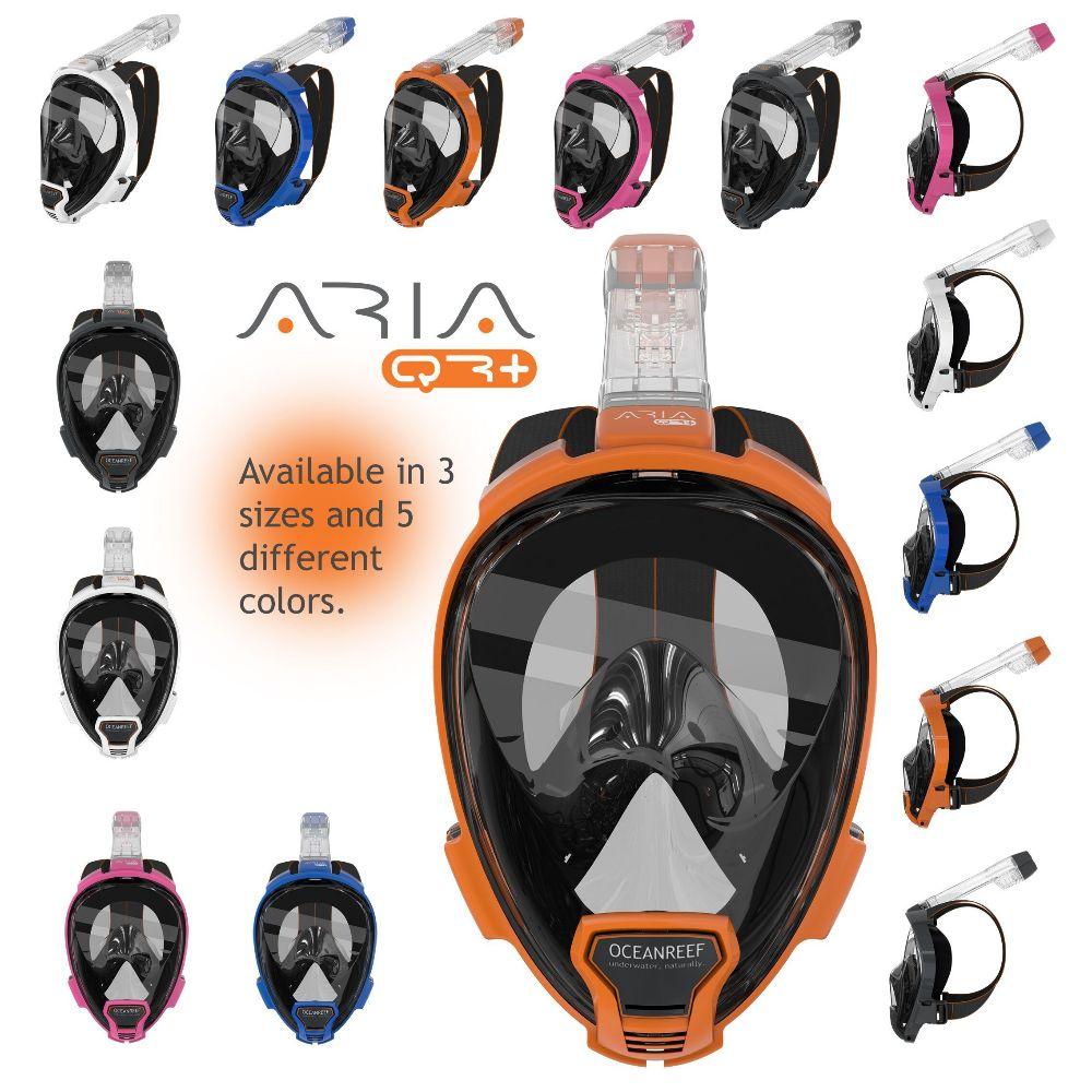 Billede af OceanReef, Ocean Reef Aria QR+ snorkelmaske L/XL Orange