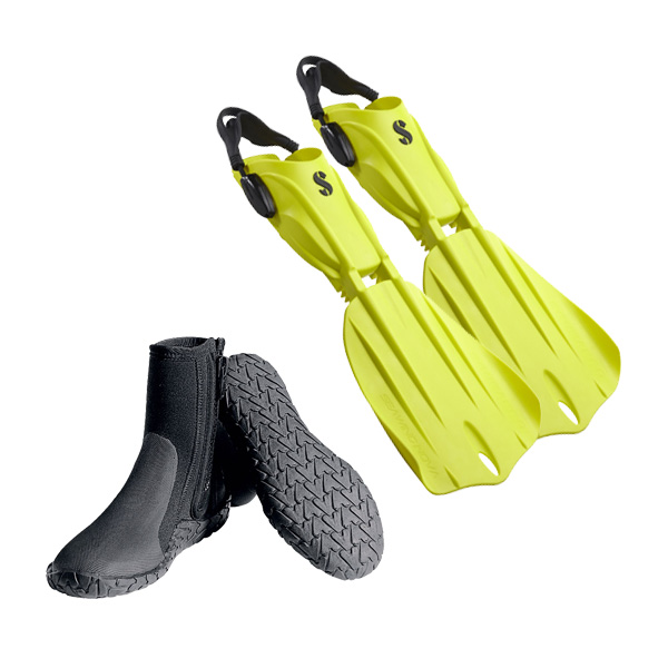 Billede af Scubapro, Dive 1 - Finne & støvle sæt 45 Medium/Pink